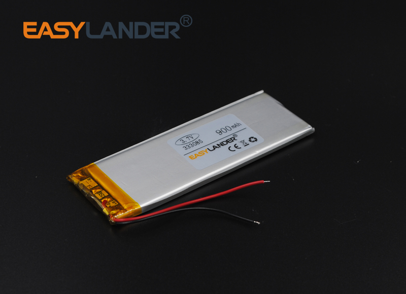 3.3x30x85 3.7V 900mAh Polymer Li-ion Battery For Mp3 Mp4 DIY E-book bluetooth Vedio Tablet PC Power bank mobile electronic333085