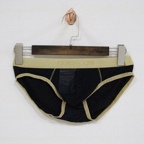 COCKCON Sexy Gay Underwear Men Briefs Shorts homme Breathable Low-waist Panties Man Transparent Mesh Gauze Lingerie cueca M-XXL Lahore