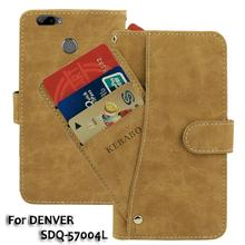 Vintage Leather Wallet DENVER SDQ-57004L 5.7 Case Flip Luxury Card Slots Cover Magnet Stand Phone Protective Bags vintage leather wallet echo fusion 6 case flip luxury card slots cover magnet stand phone protective bags