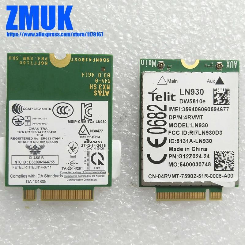 все цены на Original Telit LN930 DW5810e M.2 NGFF 4G/LTE/DC-HSPA+ WWAN Wireless Card,DP/N NRR39 4RVMT TWH3N 2J8GY TPG84
