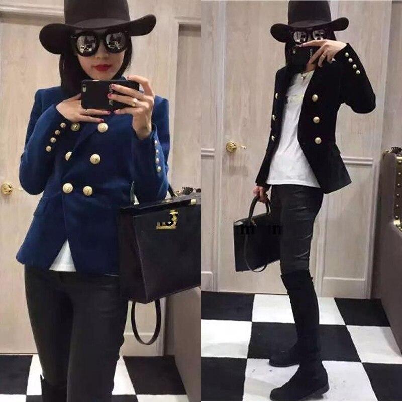 Mode Blazer Femmes Blazer Nouveau Printemps Et Automne Slim Or Velours Petit Costume Veste Femme vêtements de Loisirs Femmes T910