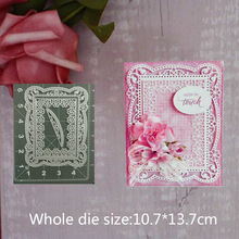 Flower curved rectangular Metal Steel Cutting Embossing Dies For Scrapbooking paper craft home decoration Craft 10.7*13.7 cm
