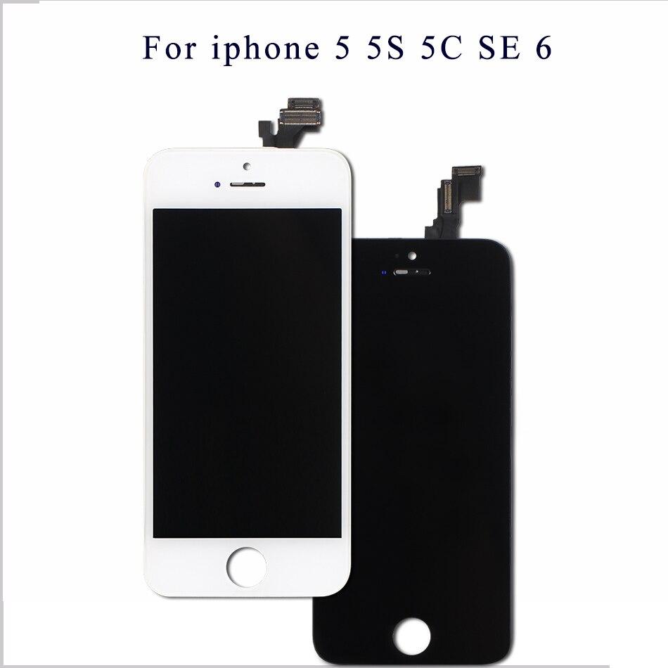 Mobymax AAA Qualidade Da Tela LCD Para o iphone 5 conjunto do Visor Substituição com Digitador Originais Peças de Telefone Preto/Branco + presentes