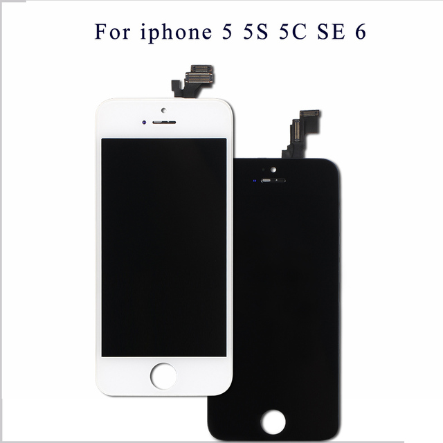Mobymax AAA Quality LCD Screen For iPhone 5 Display Assembly Replacement  with Original Digitizer Phone Parts Black White+Gifts 02c83e045b