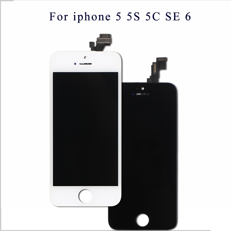 Mobymax AAA Quality LCD Screen For iPhone 5 Display Assembly Replacement with Original Digitizer Phone Parts Black/White+Gifts