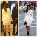 Vestido De Festa Curto E Com Renda New Fashion 2014 Bandage Kim Kardashian Celebrity Dresses Full Sleeves Vestidos De Gala Draya