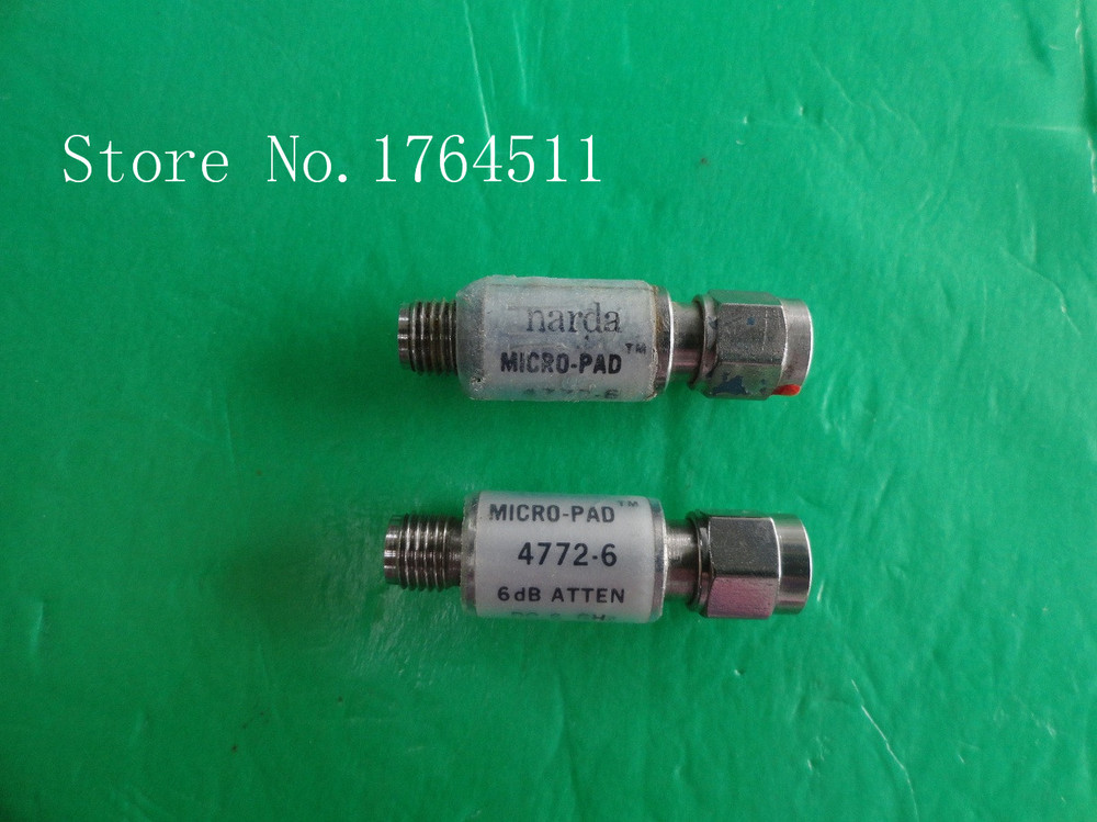 [BELLA] NARDA 4772-6 DC-6GHz Att:6dB P:2W SMA Coaxial Fixed Attenuator  --3PCS/LOT