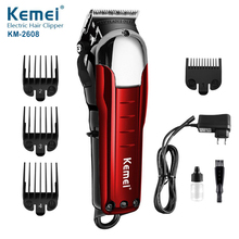 100-240V Washable Electric Hair Clipper Rechargeable Razor for Men Baby KM-2608 Cordless Beard Trimmer Hair Cutting Machine цены