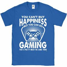You Cant Buy Happiness But Can Go Gaming Mens T-Shirt New Funny Tops Tee Unisex