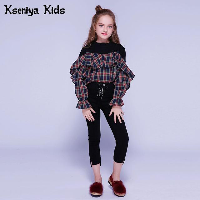 Kseniya Kids Clothes Girls Clothing Sets 2018 Autumn Winter 2 Piece Set Girl Outfits Tight Pants Girls Clothes