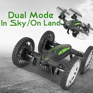 Воздушный или дорожный Радиоуправляемый Дрон с камерой 2 в 1 летающий автомобиль 2,4G Радиоуправляемый квадрокоптер Дрон 6-осевой 4CH вертолет ...
