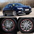 Car-Styling 16-17 Inches Carbon Fiber Wing Wheels Mask Decal Sticker Trim For Citroen C5