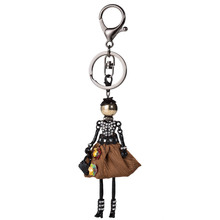 Brand New Doll keychain Fashion Doll Key Chains Charms Jewelry Women Styles Accessories Gifts Statements Women Bijoux 2017