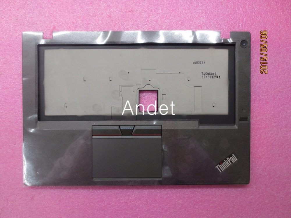 New Original Keyboard Bezel Palmrest Cover for Lenovo ThinkPad T450S SWG w/FPR With Touchpad Fingerprint 00HN692 genuine new for lenovo thinkpad x1 helix 2nd 20cg 20ch ultrabook pro keyboard us layout backlit palmrest cover big enter