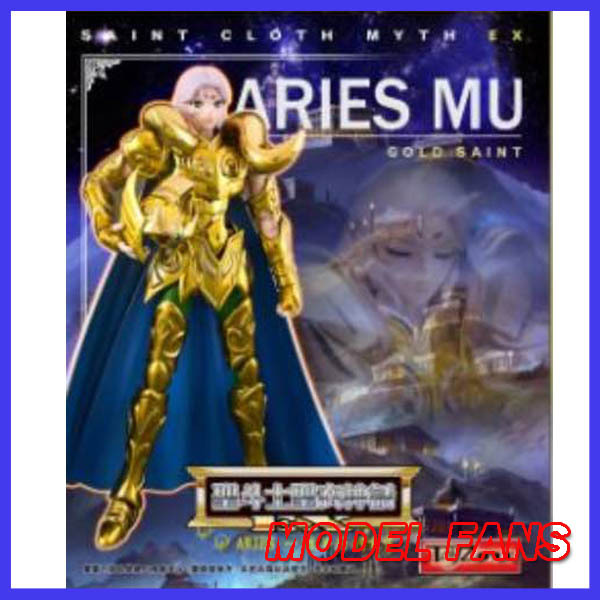 MODEL FANS IN-STOCKFree shipping Toyzone Model Saint Seiya 80% metal armor Cloth Myth Gold Ex2.0 Aries mu  action Figure the little old lady in saint tropez