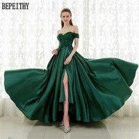 Custom Made Vestido De Festa Sexy Sleeveless V Neck Long Prom Dresses Open Back Slit Robe