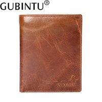 GUBINTU Real Genuine Leather Mens Passport Credit Holder Wallets Man Cowhide Passport Cover Coin Purse Money
