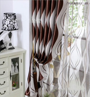 Simple Modern Stripe Blackout Fabric Shade Curtains For Living Room Or Sheer Tulle Panel Window Curtain