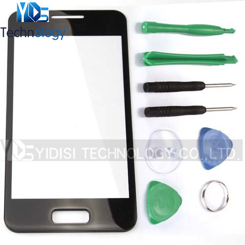 1PCS NEW For Samsung Galaxy S Advance i9070 GT-i9070 Front Screen Top Outer Glass Lens Cover Panel Replacement Parts Black