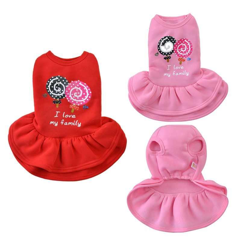 Леденец юбка для собаки платье для питомца одежда для собак для маленьких собак платье костюм хлопок Одежда для домашних животных Чихуахуа щенок Одежда для кошек