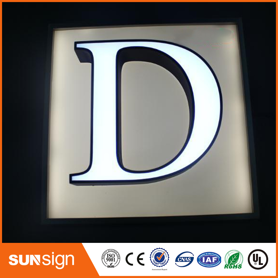 Frontlit Stainless Steel Letters With LEDs Metal Letters Led Signage