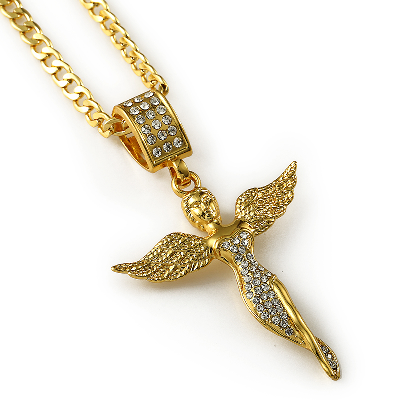 Wholesale long bling pendants jewelry gifts micro angel wings girl wholesale long bling pendants jewelry gifts micro angel wings girl necklaces men women charm crystal chain in pendant necklaces from jewelry accessories aloadofball Gallery