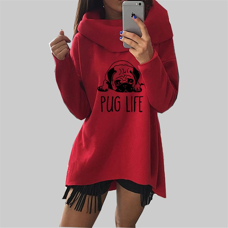 anime clothes for dogs: Cute Pug Dog Anime Christmas Clothes 2017 Women Winter