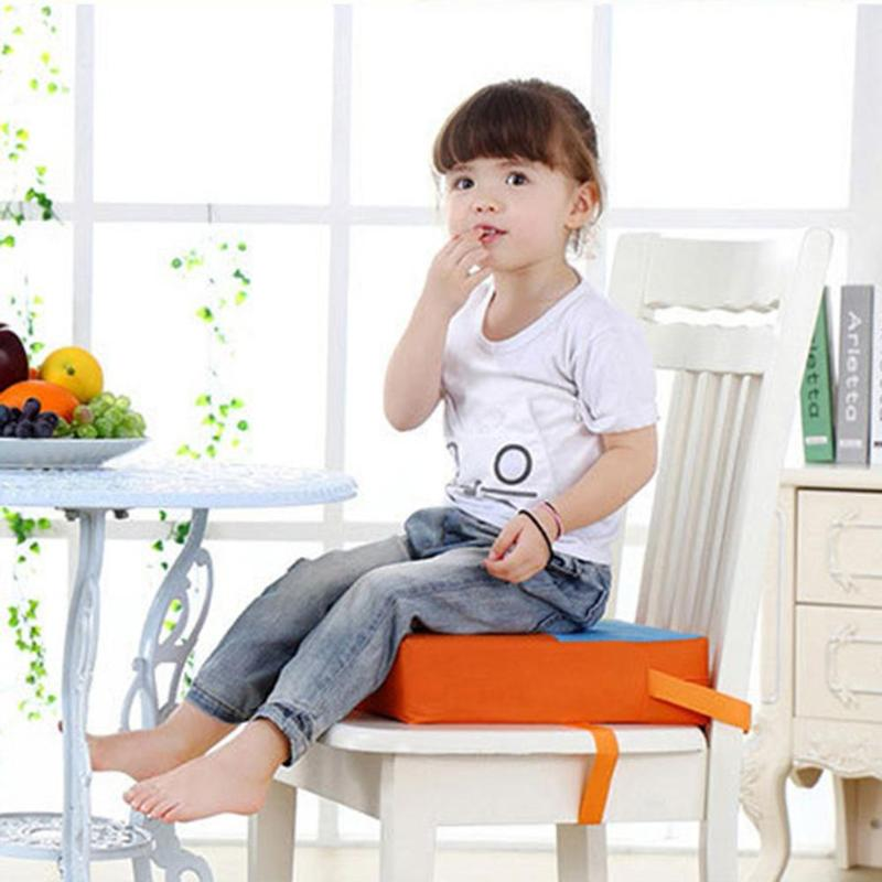 Children Dining Cushion Adjustable Increased Chair Pad Soft Baby Dining Removable Chair Booster Cushion Kids Seat Highchair