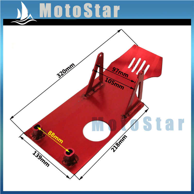 Red Aluminum Engine Skid Plate For Chinese 50cc 70cc 90cc 110cc 125cc Pit Dirt Bike Apollo Kayo Stomp Pitster Pro SDG IMR