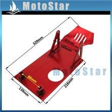 Красная алюминиевая противоскользящая пластина двигателя для китайского питбайка 50cc 70cc 90cc 110cc 125cc Apollo Kayo Stomp Pitster Pro SDG IMR