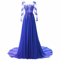 Diamonds Mermaid sweep train 2018 Women's elegant long gown party proms for gratuating date ceremony gala evenings dresses 43
