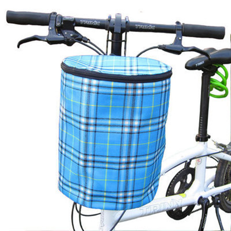 Creative 2016 New Bicycle Basket Detachable Canvas Bike Handlebar Front Cycling Bags Bike Head Drawstring Storage Bag