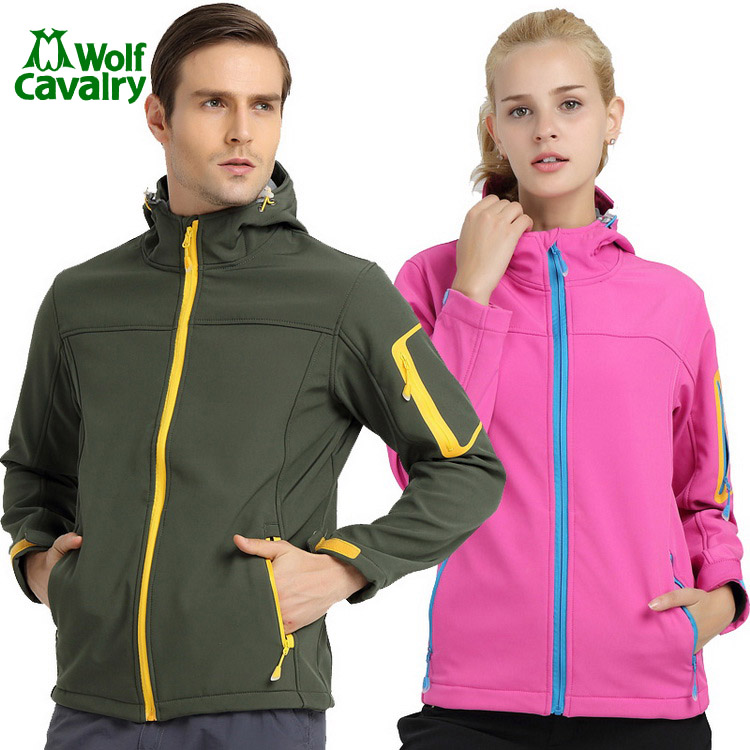 CavalryWolf women  mens  Winter Softshell Hiking Jacket Outdoor Windproof Waterproof Thermal gore-tex jacket men