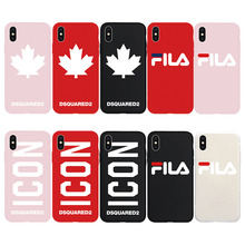 76006061aa1 Brand NEW Dsquared DS2 ICON Maple Leaf BOSS F Soft Case for iPhone 8Plus 8  7Plus