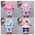 Hot  Sell New 2016 Autumn  baby clothes high quality  O-neck full sleeve fashion style baby girls clothing sets A047