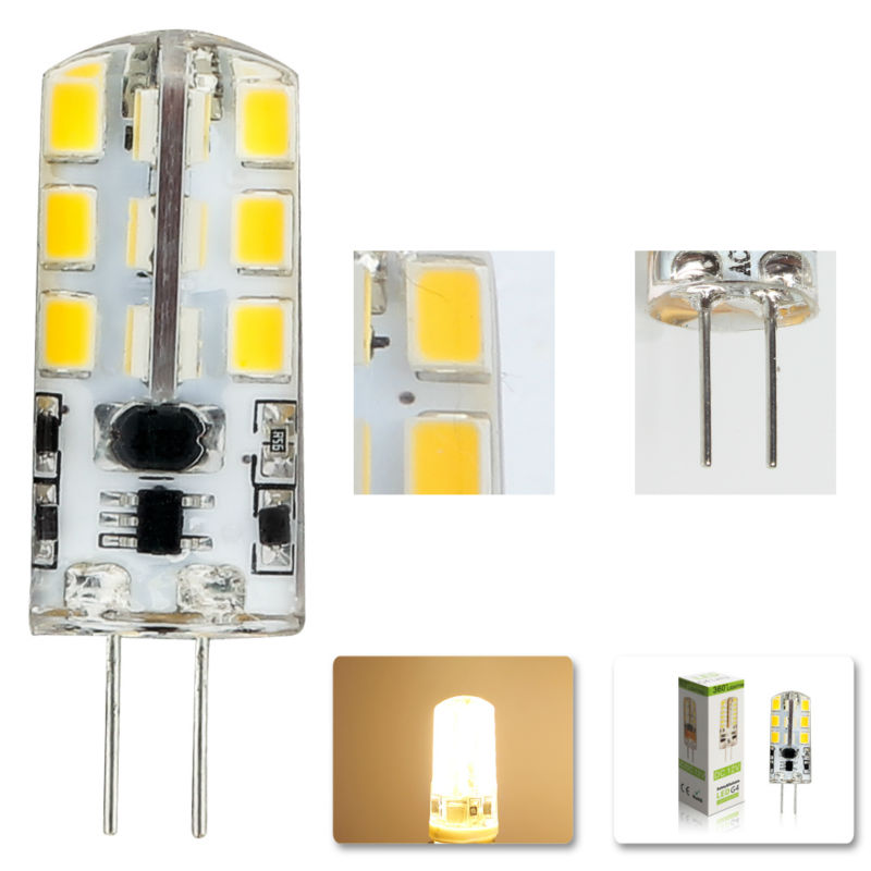 1pcs/lot 2015 new AC DC 12V g4 Led bulb Lamp SMD 2835 6W Replace 40w halogen lamp light 360 Beam Angle luz lampada led