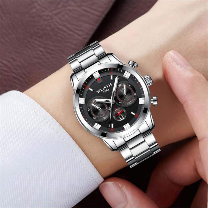 Relogio Masculino Men Watches Top Brand Luxury Fashion Casual Business Quartz Watch Stainless Steel Waterproof Wristwatches Saat