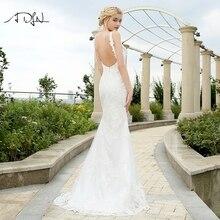 8400c6635f6e ADLN Mermaid Wedding Dresses Vestidos de Novia Custom Made Spaghetti Straps  Backless Lace ...