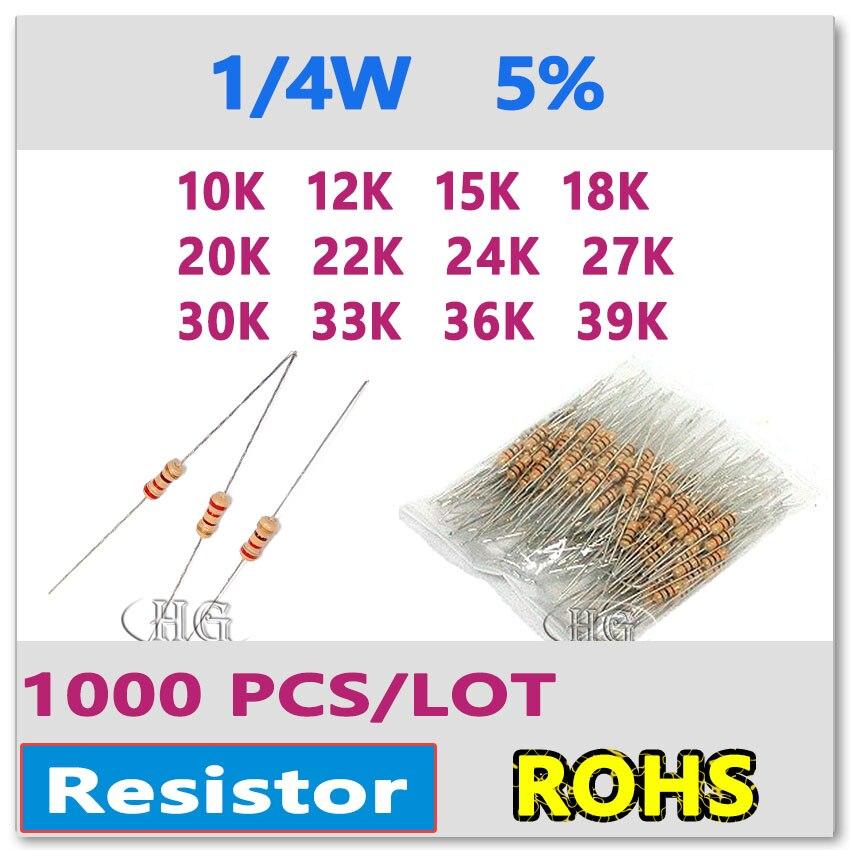 W Metal Oxide Film Fixed Resistor ± 5/% RoHS 10 Pieces 39000 Ohm 1 Watt 39K