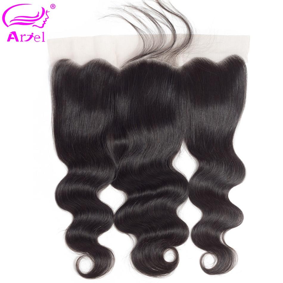 Ariel Lace-Frontal-Closure Baby-Hair Body-Wave Ear-To-Ear 100%Human-Hair 13x4 Peruvian