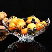 Европейский стиль гостиная дома кристалл стеклянная Фруктовая тарелка кофе стол салат фрукты чаша большой ZP01241350