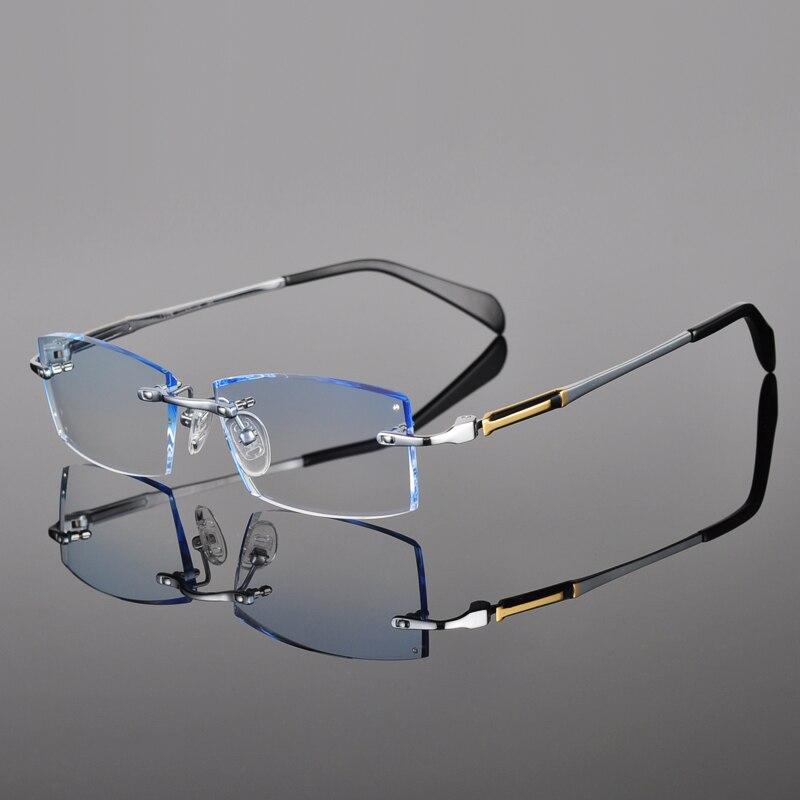 New Glasses Prescription Eyeglasses Men Customized Prescription glasses Myopia Hyperopia Frameless frames fashion 25