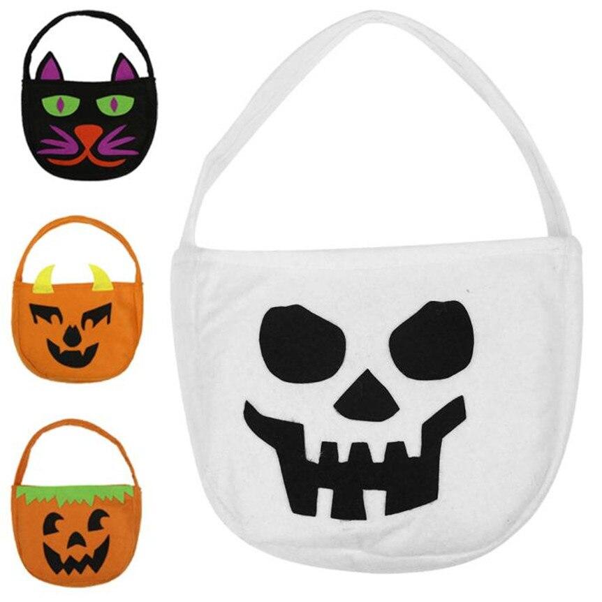 feliz venta bolsa sonrisa bolsa de calabaza de halloween los nios dulces nios octchina