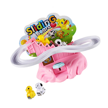 Dog Slide Race Set Playset Climb Stairs Track Educational Toys Finger Press The Button