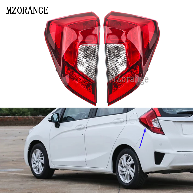 MZORANGE Rear Light Taillamps For FIT JAZZ GK5 GP5 2014 2015 2016 Tail Lights Lamps 33550