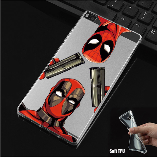 Deadpool Soft TPU Silicone Case Cover For Huawei P8 P9 P10 Lite Plus Honor 8 Lite Pro 9 6X