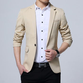 new spring 2020 fashion leisure suit men's cultivate one's morality in British youth pure color suit
