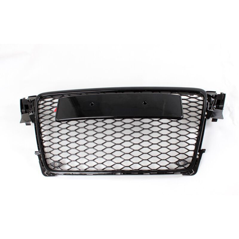 A4 B8 Black Front Bumper Middle Grill Grille For Audi A4 S4 RS4 2009 2010 2011 2012 10th front bumper grill abs material middle grille racing grills type r grill mesh case for honda civici 2016 2017