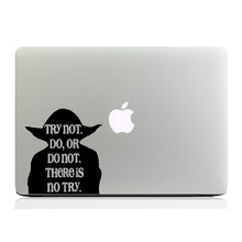 Star Wars Yoda Master Quote Laptop Decal for MacBook Sticker 11″ 12″ 13″ 15″ Air Pro Retina Computer PC Vinyl Notebook Art Skin