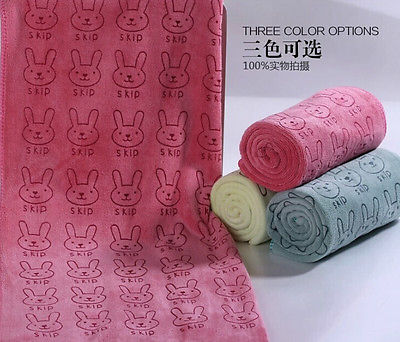 Rabbit Microfiber Baby Beach and Bath Towel 2